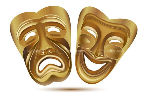Gold Theatre Masks